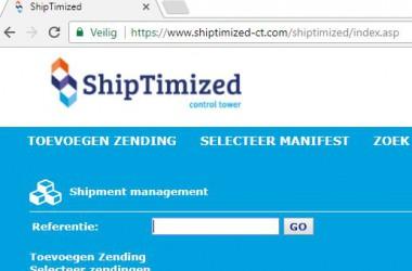 Veilig verzenden met ShipTimized control tower
